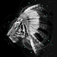 Don't Define Your World (Chief of Dreams: Tiger ) Tribe Series Art Print by soaring anchor designs ⚓ | Society6
