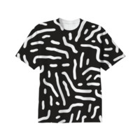 B&W Squiggle Pattern created by Nox De Ignis | Print All Over Me