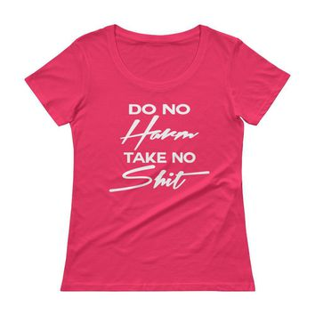 Do No Harm Take No Shit Burnout t-shirts Top , Gym t-shirts for women