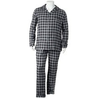 Residence Plaid Flannel Pajama Set - Big &