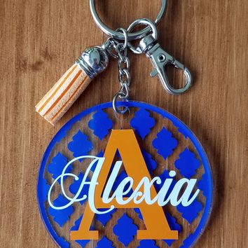 Keychain - French Twist, Letter with a Name