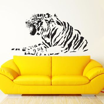 Removable Tiger Jungle Animal Predator Wall Decal Sticker Hom Decor Vinyl Wall art Mural DIY Living Room Animal Wall Decal YO-8