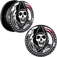 "3/4"" Acrylic Sons of Anarchy Gunsickle Grim Reaper Screw Fit Plug Set 
