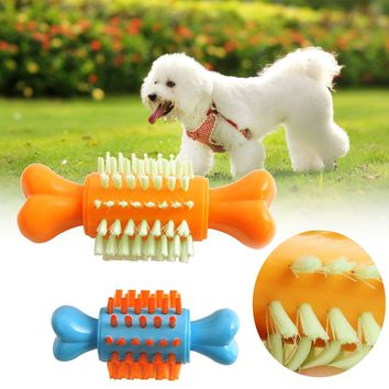 ABS Bone Shape Pet Puppy Dog Chew Squeaker Toys