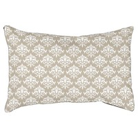 Beige And White Decorative Damask Pattern Dog Bed