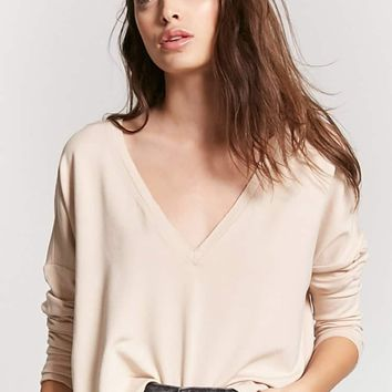 Raw-Cut Drop Sleeve Top