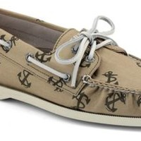 Sperry Top-Sider Authentic Original Anchor Tattoo 2-Eye Boat Shoe ChinoAnchorCanvas, Size 11.5M  Men's