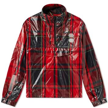 Red and Black Flannel Pattern Anaorak by OFF-WHITE