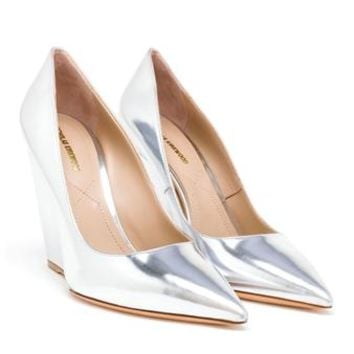 NICHOLAS KIRKWOOD | Lizy Wedge Pumps | brownsfashion.com | The Finest Edit of Luxury Fashion | Clothes, Shoes, Bags and Accessories for Men & Women