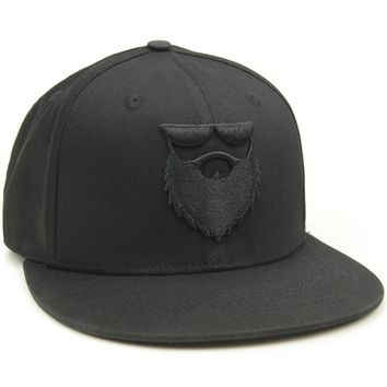 OG Beard Logo Low Profile Stretch Fit Hat Black/Black