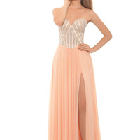Eleni Elias P434 Crystal Top Chiffon Prom Dress or Mother of the Bride