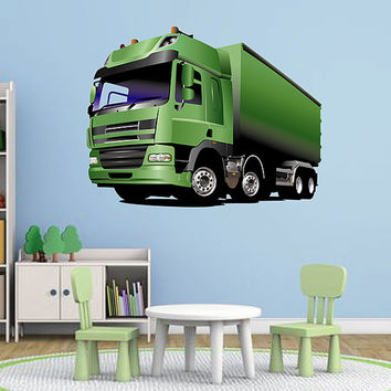 kcik76 Full Color Wall decal Truck transport machine large bedroom children's room