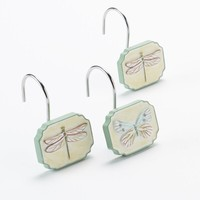 Georgiana 12-pk. Shower Curtain Hooks (Green)