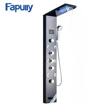 Fapully New Thermostatic Hydroelectric LED Shower Faucet/Shower Column/Shower Panel