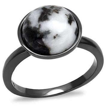 Black and White Marble Ring