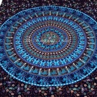 Indian Mandala Hippie Wall Hanging Tapestry Throw Psychedelic Ethnic 2132