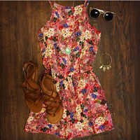 Chasing The Sun Romper - Pink
