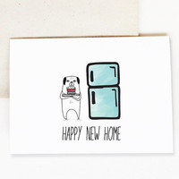Happy New Home Card, New House Card, Love Card. Card for Boyfriend. Card for Girlfriend. Thinking Of You Card. Love Card for Husband Wife