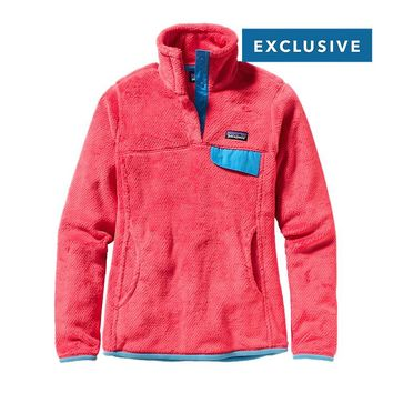 Patagonia Women's Re-Tool Snap-T® Fleece Pullover | Cochineal Red - Wax Red X-Dye