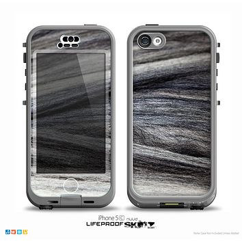 The Dark Colored Frizzy Texture Skin for the iPhone 5c nüüd LifeProof Case