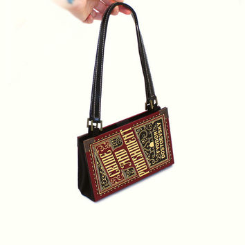 Crime and Punishment Bookpurse - Decadence Book Purse Clutch or Handbag - Bookish Accessory