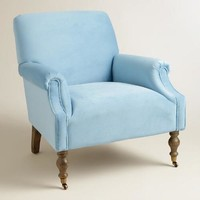 Icy Blue Mazie Chair