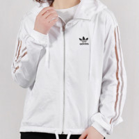 """Adidas"" Fashion Casual Simple Letter Print Classic Ladies Trench Coat"