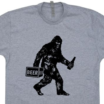 Sasquatch Beer T Shirt Bigfoot Beer T Shirt Funny Beer Shirts Yeti Tee Shirt