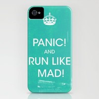 PANIC iPhone Case by Vince Pezzaniti | Society6