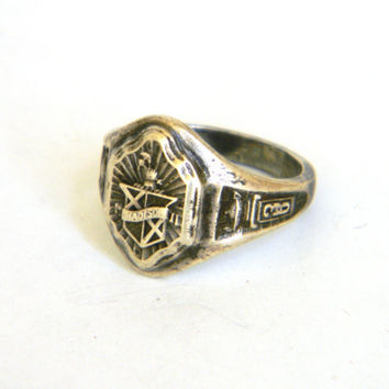 High School Class Ring  1936 vintage Womens by Mylittlethriftstore