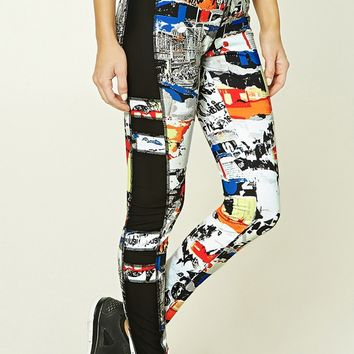 Active Collage Print Leggings