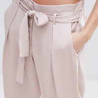River Island Satin Tapered Trouser at asos.com