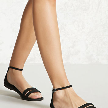 Braided Faux Suede Sandals