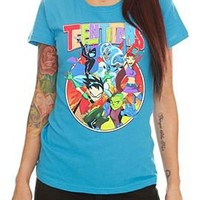 DC Comics Teen Titans Group Girls T-Shirt - 300139