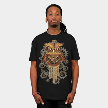 Steampunk Owl Vintage T Shirt By BluedarkArt Design By Humans