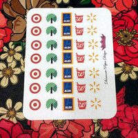 35 kiss cut and ready to peel off Store Stickers! Perfect for your Erin Condren Life Planner, Filofax, Kikkik, Plum Paper