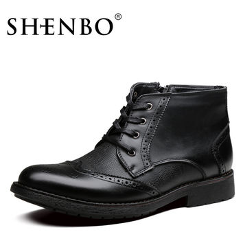 Style Casual Boots, High Quality Men Boots, Fashion Brogue Men Ankle Boots