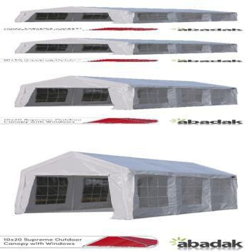 10' x 20' Supreme Tarp Tent Canopy Enclosed with Windows
