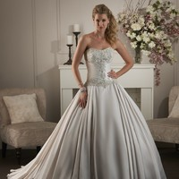 Bonny Classic 410 Satin Ballgown Wedding Dress