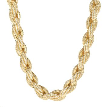 10mm Iced Out Rope Chain