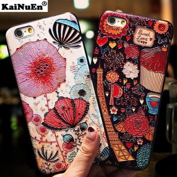 KaiNuEn luxury 3d back coque cover case for iphone 6 6s s plus 6plus silicone silicon phone cases accessories for apple iphone6