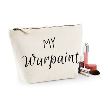 My Warpaint Canvas Makeup Bag