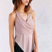 Kimchi Blue Surplice Cross-Back Tank Top- Taupe