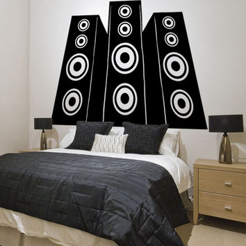 Vinyl Wall Decal Sticker Speakers #OS_MB898
