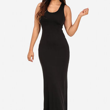 Long Maxi Dress Black