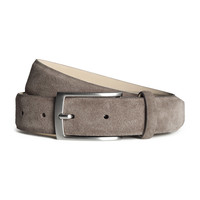 H&M - Suede Belt - Light taupe - Men