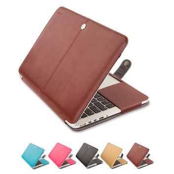 Mosiso High Quality PU Leather Sleeve Case Book Cover for Macbook Air 11 13 inch Pro 13 15 with Retina Display 12 inch