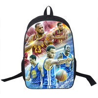Basketball Star Stephen Curry Backpack For Teenagers Boys School Bags Men Sports Backpack Kids School Backpacks Children Bag
