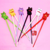 2016 NEW Lucky Cat children learning chopsticks free shipping
