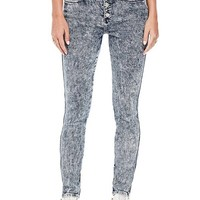 GUESS Originals 1981 Button-Front Skinny Jeans at Guess